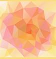 polygonal square background cute peach orange vector image vector image