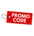 promo code label or price tag vector image vector image