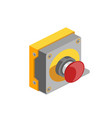 red button isometric vector image