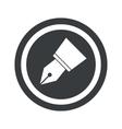 Round black pen nib sign vector image vector image