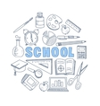 School Hand Drawn Set vector image
