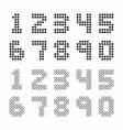 scoreboard style numbers vector image