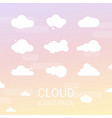 set of cartoon clouds isolated vector image