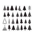 set of christmas tree icons vector image vector image
