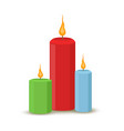 set of wax candles for celebration party vector image