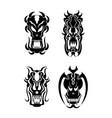 skull tribal tattoo set vector image vector image