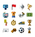 Soccer icons vector image vector image
