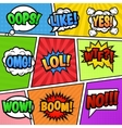 Speech bubbles tags at colorful background vector image vector image