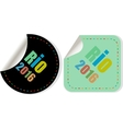 Stickers set Sign symbol Rio olympics games 2016 vector image