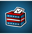 USA elections ballot box vector image