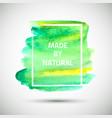 watercolor-brush-green vector image vector image