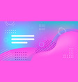 web template with blank bars dynamical colorful vector image vector image