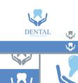 Dental Care Dentist Teeth Wellness Logo Concept vector image