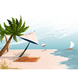 tropical beach landscape with palm trees vector image