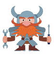 dwarf repairer vector image