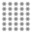 Snowflake winter symbol vector image