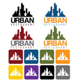urban restaurant concept and icon set vector image