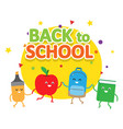 back to school colorful cartoon poster vector image