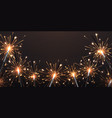 background with sparklers birthday party bengal vector image vector image