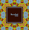 Banner with a kaleidoscope of succulents in style vector image vector image