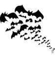 Bats flock vector image vector image