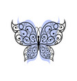 beautiful butterfly with swirl pattern vector image vector image