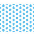 blue snowflake seamless pattern and vector image vector image
