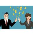 Business people having a quarrel about money vector image