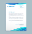 business wave letterhead design vector image vector image