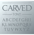 Carved font engraved on the wall modern realistic