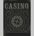 casino typographical vintage grunge style poster vector image vector image