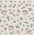 christmas floral seamless pattern winter nature vector image vector image
