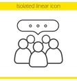 Conference icon vector image vector image