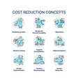 cost reduction concept icons set vector image