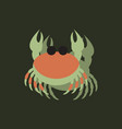 crab in cartoon style seafood product design in vector image vector image