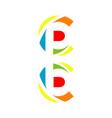 creative letter cp bc logo design