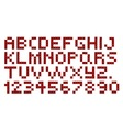 Cross Stitch Alphabet and Numbers vector image vector image