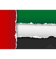design flag united arab emirates from torn papers vector image