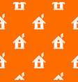 eco house concept pattern seamless vector image vector image