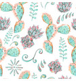exotic natural vintage seamless pattern vector image