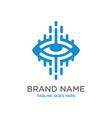 eye health technology logo design vector image