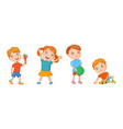 featuring playing kids vector image vector image