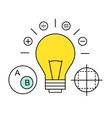 flat line icon digital marketing search vector image vector image