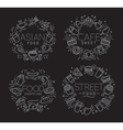 Food monograms black vector image vector image