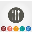 Fork spoon and knife icons vector image vector image