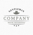 Gentleman Hat Vintage Retro Design Elements for vector image