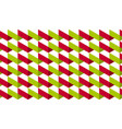 geometry concept motif in green and red colors vector image vector image