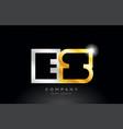 gold silver alphabet letter es e s combination vector image vector image
