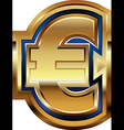 Golden Euro Symbol vector image