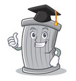 graduation trash character cartoon style vector image